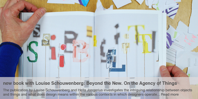 new book with Louise Schouwenberg: Beyond the New. On the Agency of Things