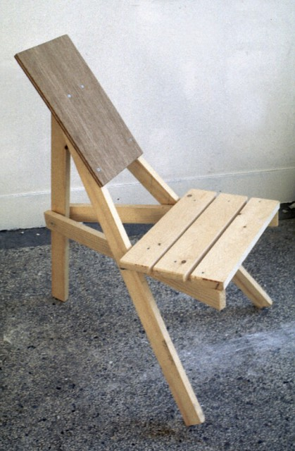 Kasese Chair, wood model