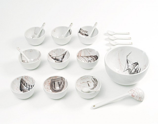 Soup Set Hand painted
