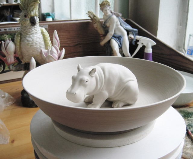 Prototype of the hippopotamus bowl