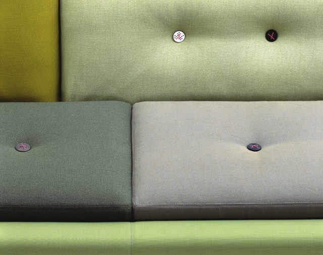 Polder Sofa XXL green Detail