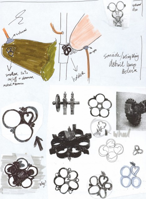 Sketches of the bronze wheel