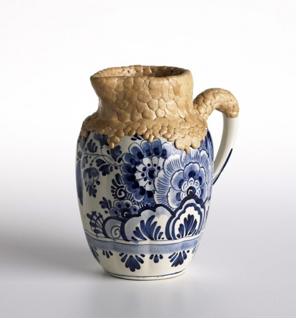 Chicle delft blue vase