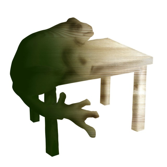 Early sketch of the frog table