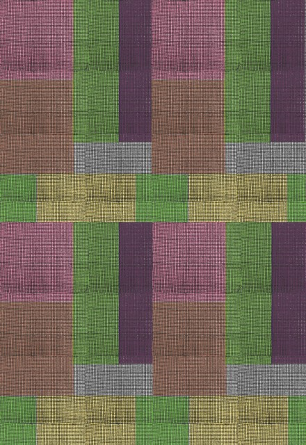 Colour try-out, representing the colour grid pattern used in the textile.