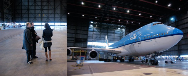 Visiting the KLM hangar