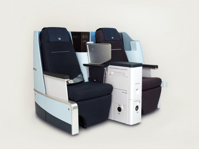1df3f569d946e KLM World Business Class cabin interior – The full flat chair ...