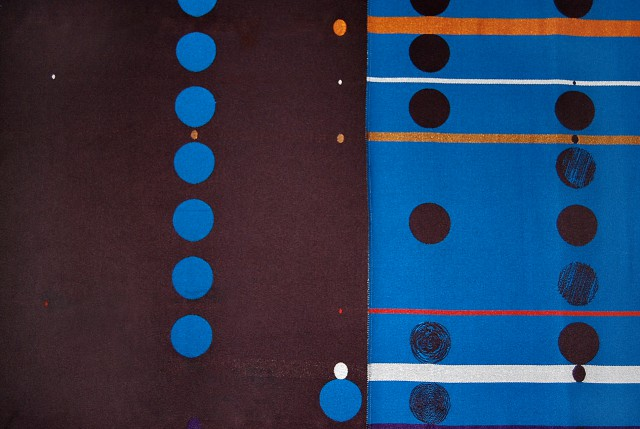Detail of the class divider flat fabric design
