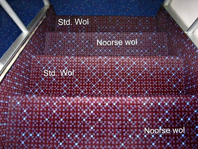 Carpet design with four types of wool