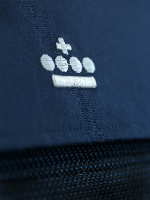 Detail of the logo on the final head rest design