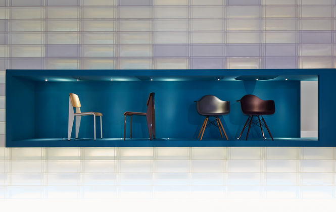 The chairs as presented at the Salone del Mobile 2013
