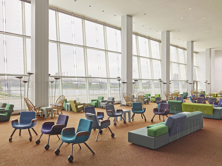 The UN Lounge Chairs in the Lounge itself © Frank Oudeman