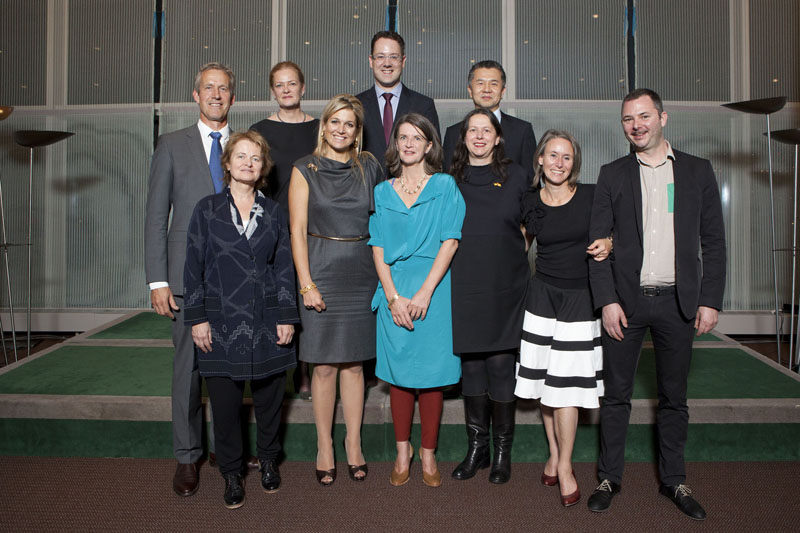 The whole team together at the opening of the lounge (see below for names) © Dutch Ministry of Foreign Affairs