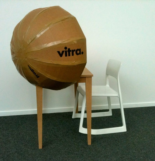 Sphere Table, 1:1 model at Vitra workshop