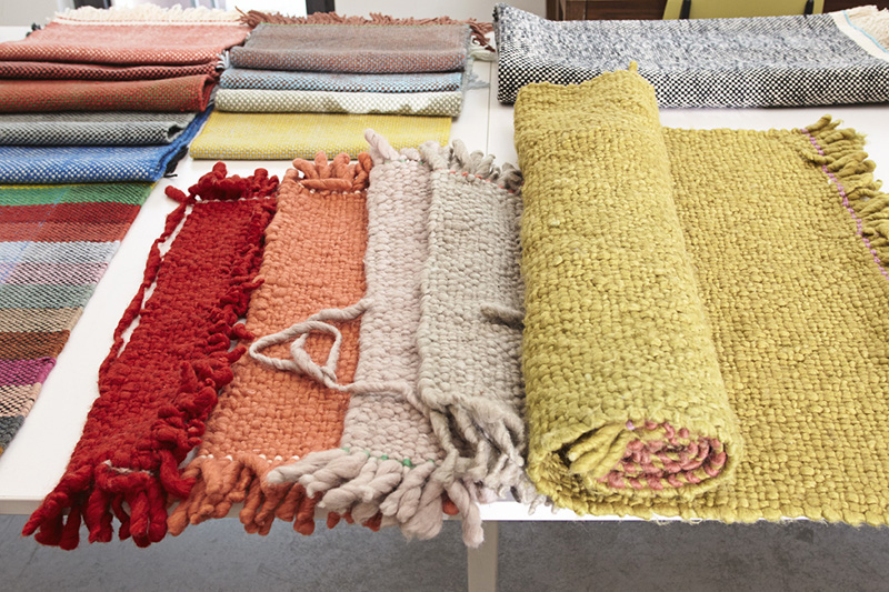 Samples of Bold carpets in the studio © Marcus Gaab