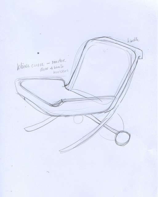Sketch for UN Lounge Chair