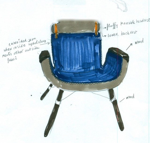 Sketch for East River Chair