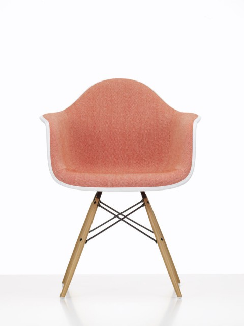 Eames Plastic Chair upholstered