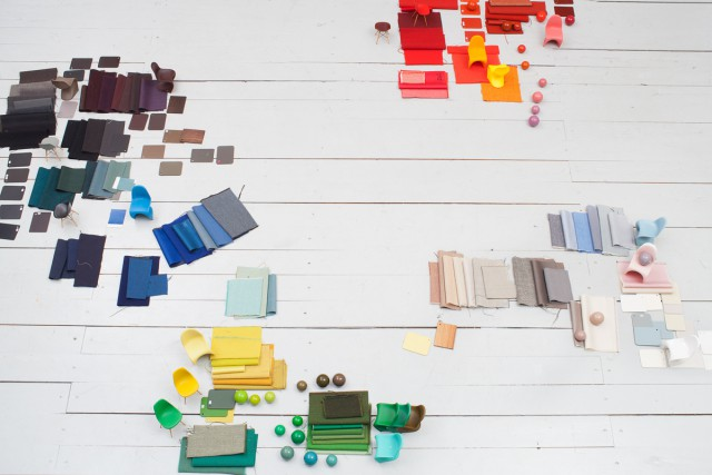 Still from movie about the Vitra colour library