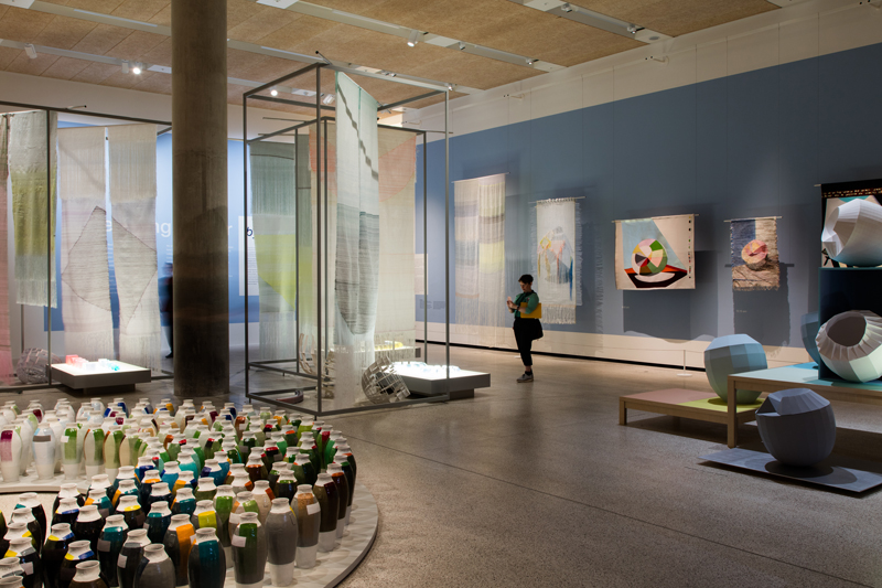 Breathing Colour –view of the WOVEN MOVIE in the exhibition. Photo: Luke Hayes