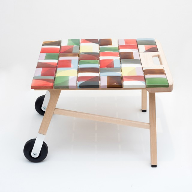 Tile Table, colourway 1. Photo by Deniz Guzel