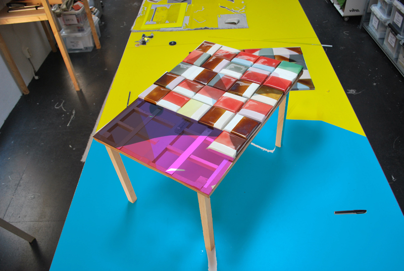 Tile Table, colourway 2. Photo by Deniz Guzel