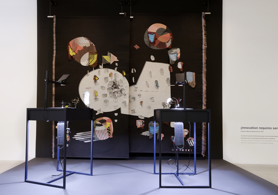 ¡Innovation requires serendipity! is one of the four shadow-producing installations from 'A Search Behind Appearances.'