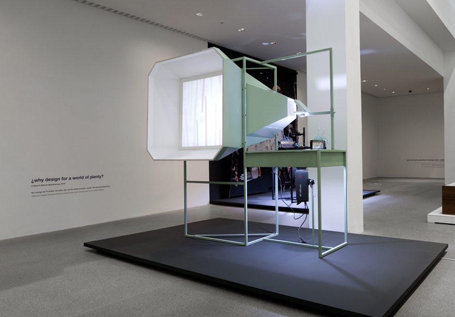 ¿Why design for a world of plenty? is one of the four shadow-producing installations from 'A Search Behind Appearances.'