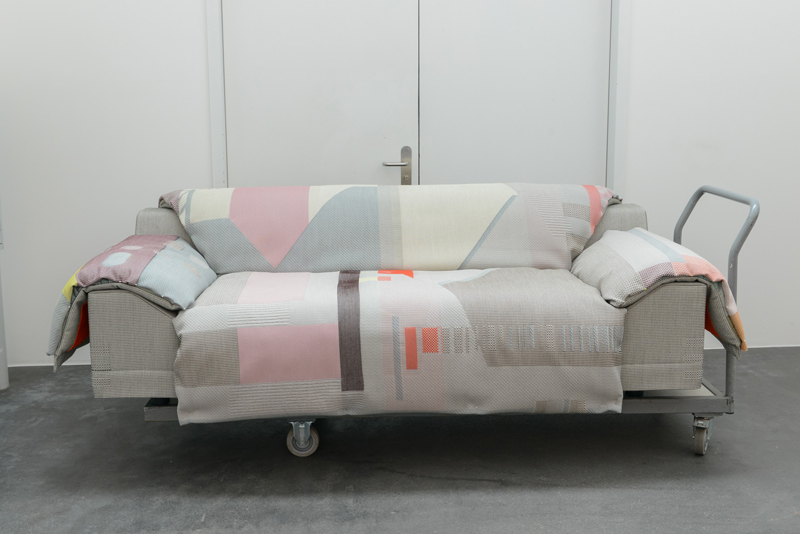 The Vlinder sofa on its way to Milan