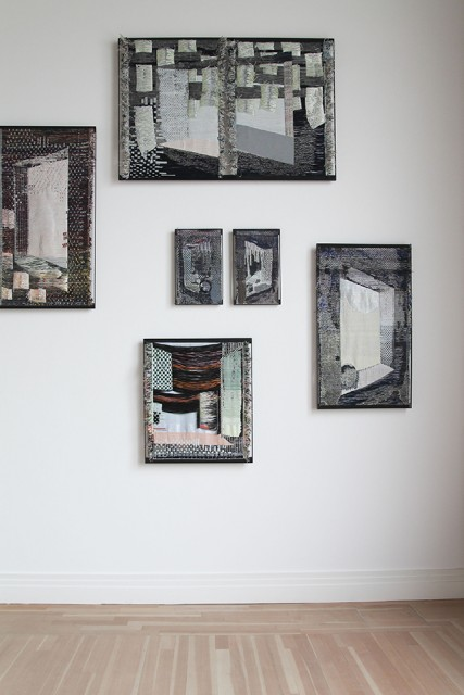 Woven Cosmos, exhibition view with Woven Windows