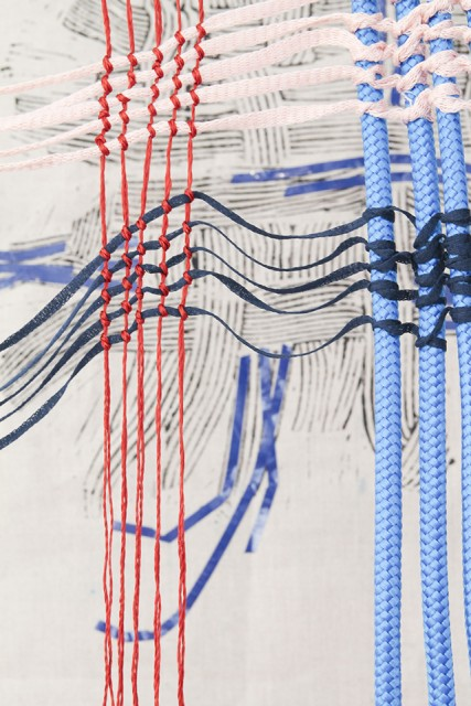 Floats (detail), from the series Woven Systems, 2021