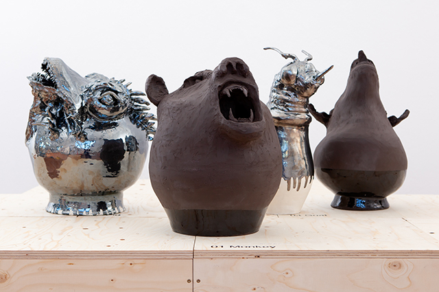 Lizard, Bear, Bee and Goat, from the series Angry Animals, 2021 photo by Magdalena Lepka