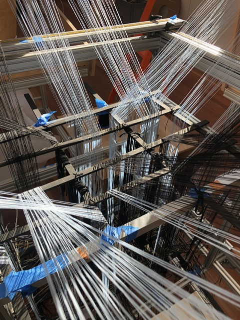 Space Loom #2 allows the warp to move in all directions