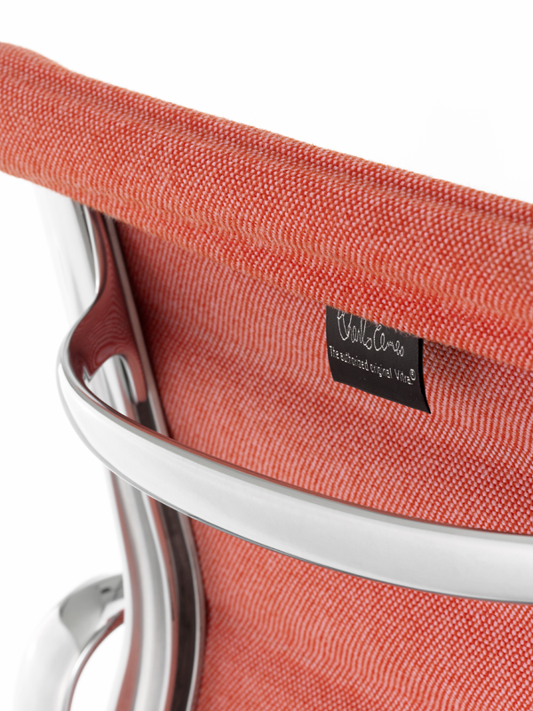 Detail of Hopsak textile on Alu Chair