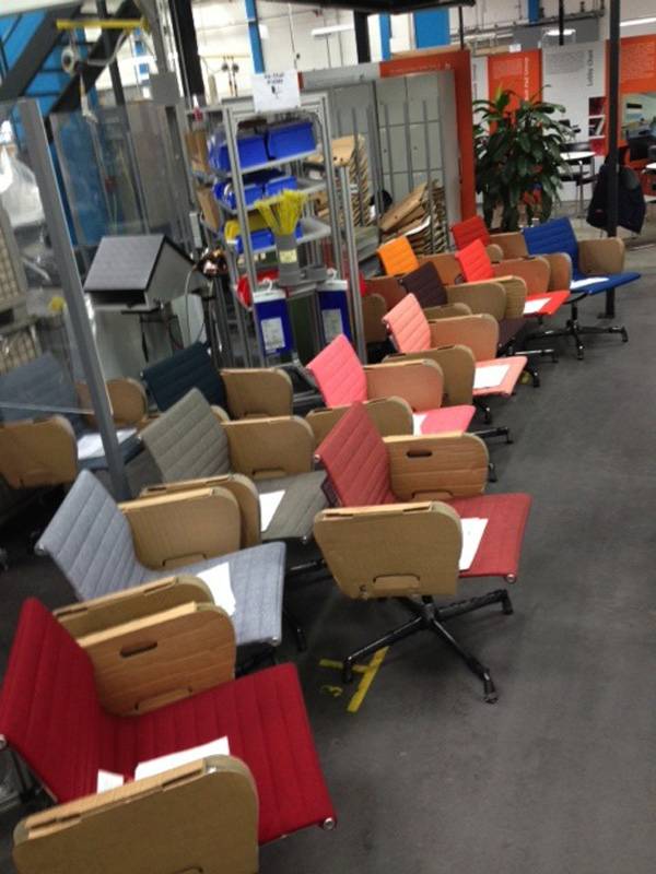 First industrial series of Alu Chairs