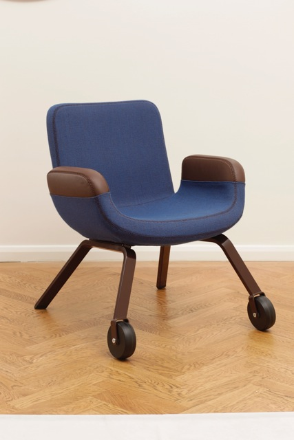 UN Lounge Chair at Gallerie Kreo London (colour: Indigo)