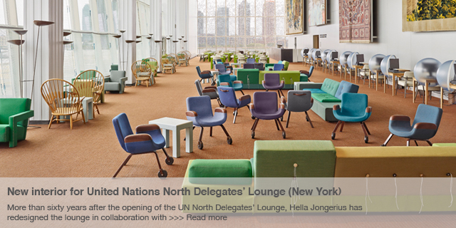 New interior for United Nations North Delegates' Lounge (New York)